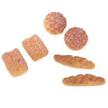 New Hot 6pcs Bread for 1/12 Dollhouse Miniature Breakfast Kitchen Acessories Simulation Food Dollhouse Toys Kids Creative Gifts