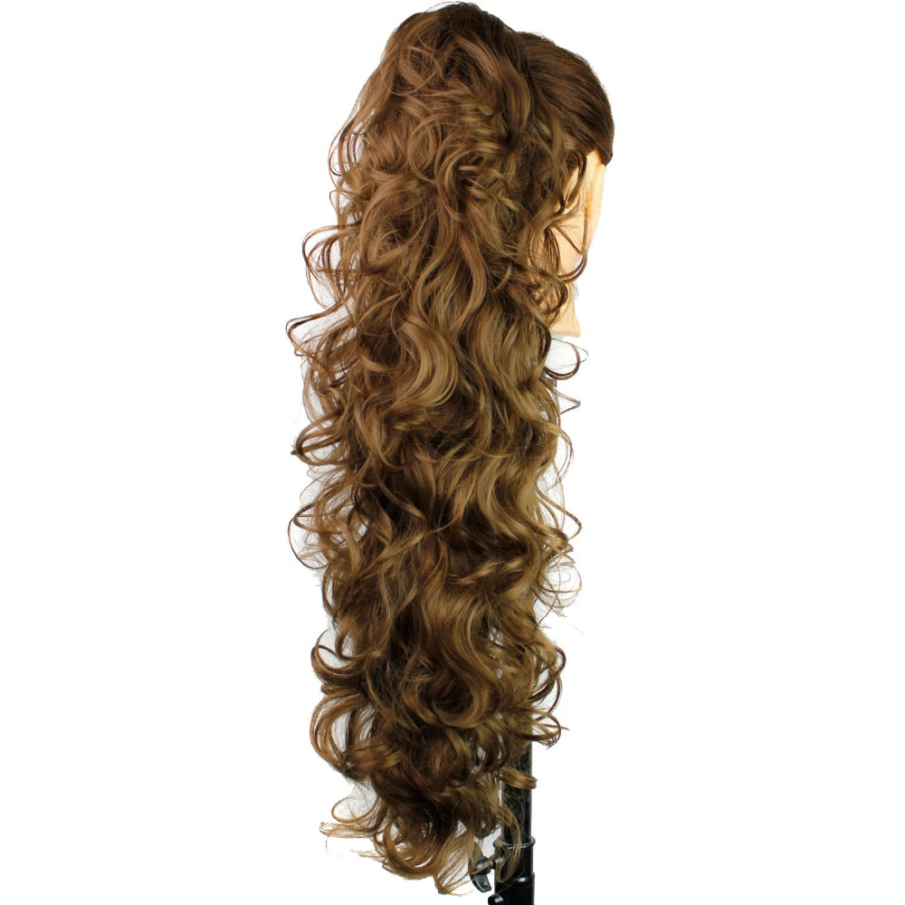Ponytail-Extensions Claw-Clip Braiding Synthetic-Hair-Pieces Wavy Long Women High-Temperature title=