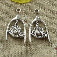 102 pieces tibetan silver nice charms 31x17mm #4047
