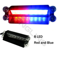 1pc 8W Windshield Led Strobe Light Car Flash Signal Emergency Fireman Police Beacon Warning Light Red Blue For Chrysler