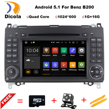 Two Din 7 Inch Android Car DVD Player For Mercedes/Benz/Sprinter/W209/W169Viano/Vito/B200/A160 Wifi GPS Navigation Radio FM