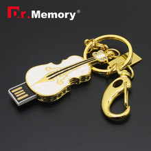 USB Flash drive Diamond/Jewelry Violin USB Flash memory Metal Pen Drive 8G 16G 32G 64GB  Wholesale U disk with Chain