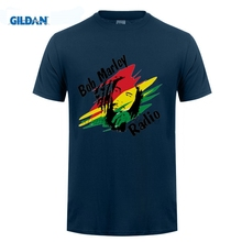 GILDAN Most popular style BOB MARLEY Music theme avatars The high quality In the summer Men's short sleeve T-shirt(China)