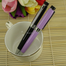 MB Style Pen with Mechanical Twist Slim Ballpoint Pen Black & Purple Metal refill School Supplier Promotion Write BallPen