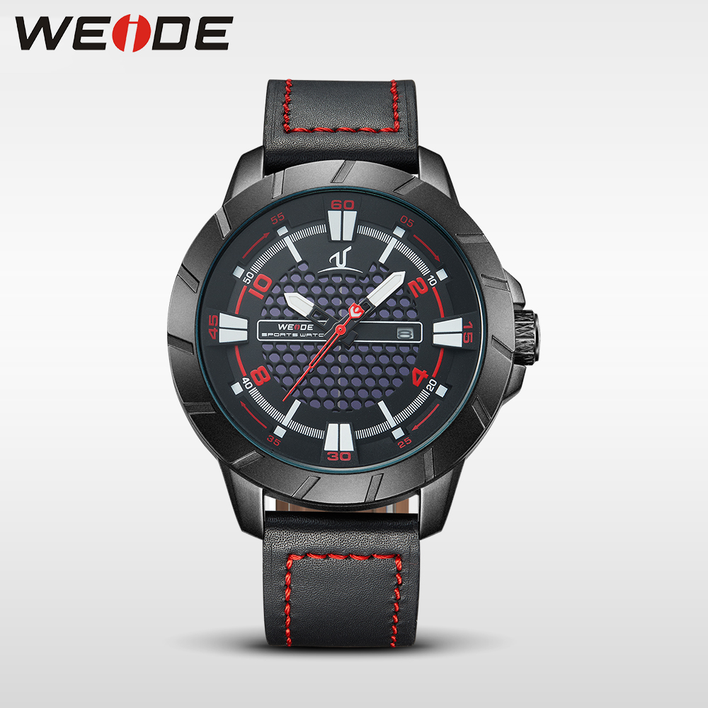 WEIDE 1608 mens watches leather luxury famous brands watch quartz men sports watches waterproof Schocker clock men wrist watch<br>
