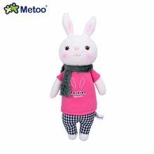 Metoo Tiramisu Rabbit Plush Toy Doll Stuffed Bunny Lovely Gift for Children Rose T-Shirts(China)