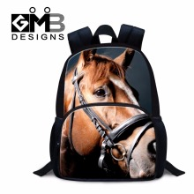 Black Horse backpacks for preschoolers ultralight backpacks for boys small bookbag school bags for kids mini mochilas animal bag