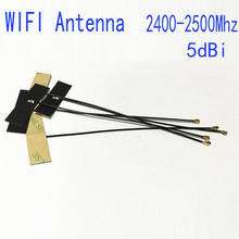 1pc WIFI Soft Antenna 5dBi IPX IPEX Connector Internal FPC Omni Bluetooth Antenna IEEE 802.11 b/g/n WLAN System wi-fi antenna