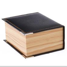 Free shipping  top quality faux leather wood grain Cufflinks Box 10pcs/lot cuff link packaging box gift box cufflinks