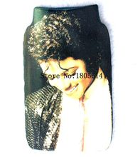50 Pcs fashion beautiful Michael Jackson Mobile Phone SOCK COVER Stretchy Fabric