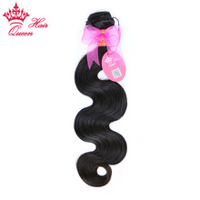 "Queen Hair Products Brazilian Hair Body Wave Bundles 100% Human Remy Hair Weave Natural Color 8""- 30"" Free Shipping(China)"