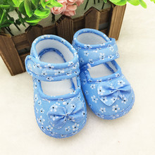 shoes baby 2016 children's shoes girls Printing Bowknot newborn shoe size baby girl shoes kids first walkers bebes nice LD(China)
