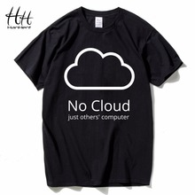 HanHent Computer Cloud T-shirts Creative Man Cotton Short Sleeve Summer Style Tee shirts New Casual Funny Geeks T shirts Boys(China)