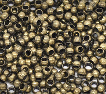 "DoreenBeads Alloy Crimp Beads Round Antique Bronze 1.5mm 2.5mm( 1/8"") Dia, 200 PCs 2015 new"