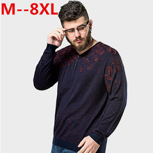 10XL 8XL 6X Pullover Men V Neck Sweater Men Long Sleeve Shirt Mens Sweaters Wool Casual Dress Brand Cashmere Knitwear Pull Homme(China)