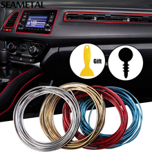 5M Car Door Dashboard Air Outlet Steering-wheel Styling Interior Decoration Line Strips Car-styling Car Sticker Auto Accessories