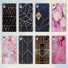 Marble Line Luxury style transparent Thin phone Case for Sony Xperia XA M4 M5 z3 z4 z5 C4 C5 C6 e4 e5