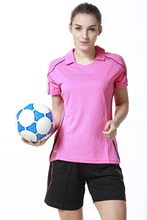 women new style customized  name and number short sleeve soccer jersey  lady  soccer suits  girls soccer uniforms sportswear