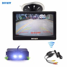 Buy DIYKIT Wireless 5 Inch TFT LCD Display Car Monitor + Waterproof Parking Radar Sensor Car Rear View Camera for $46.95 in AliExpress store
