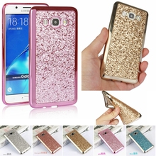 Gold Glitter Bling Cover For Samsung Galaxy S7 Edge S8 Plus S6 J7 J5 J2 Prime A3 A5 2017 J3 2016 S4 S5 Neo Grand Prime Plus Case