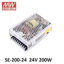 ac dc power source 24V 8.8A 200W Meanwell Switch Power Supply SE-200-24 Industrial Economical medium to high power model 24V