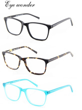 High quality  Large vintage spring hinged Fashion acetate eyeglasses for men and women Eye wonder