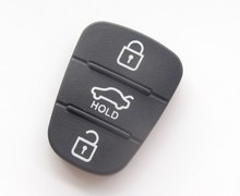 10pcs Replacement 3 button key Pad for Hyundai Kia Remote flip Key Shell Blank Fob Cover Rubber Pad