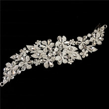2016 New Clear Flower Rhinestone Crystals Wedding Bride Bridal Floral Hair Combs Head Pieces Hair Pins Jewelry Accessories(China)