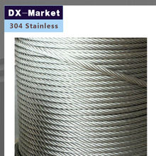 1.2mm wire rope , 50meter/lot , 7*7 , 304 stainless steel wire rope Anti rust line(China)