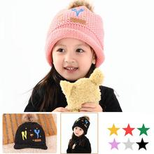 New Baby Kids Toddler Infant Boy Crochet Knit Cute NY Pattern Hat Cap Beanie