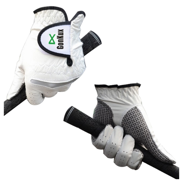 GONKUX Men's non-slip golf gloves Anti-skid leather gloves Left hand