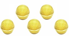 NEW 5 PCS Gold Plated Ball Head Mesh Microphone Grille for Shure SM58 Microphone(China)