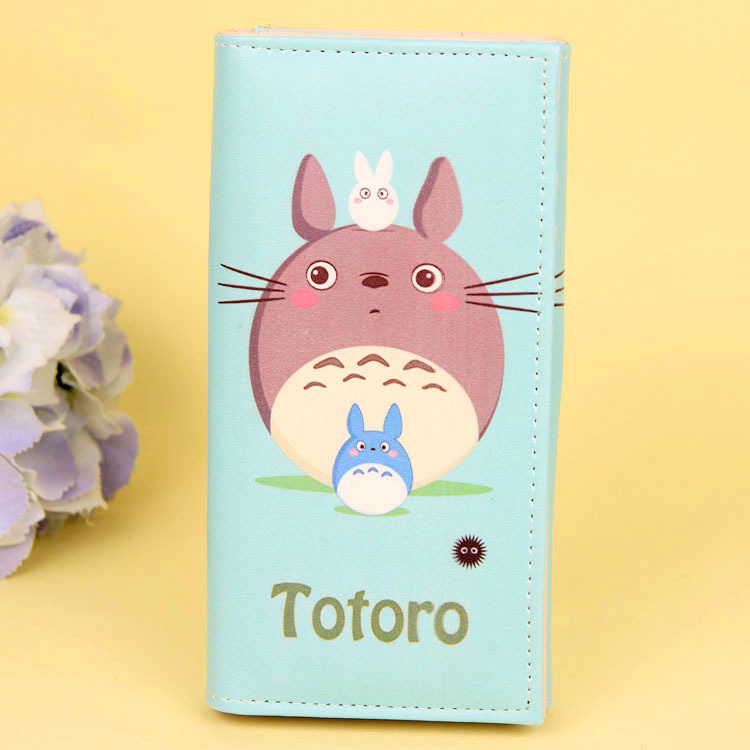 Cartoon My Neighbor Totoro Women Wallets PU Leather Students Wallet Cards Holder Women's Clutch Hasp Coin Purse Money Bags 4