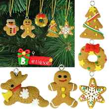 Christmas decoration supply Tree DIY Decor Clay Pendants Ornament Party Holiday Xmas Gifts - wei liang store