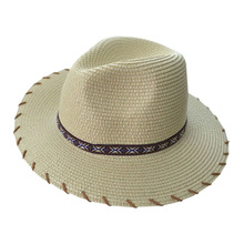 Fashion Ethnic Style Panama Sun Hats Beach Straw Summer Casual Women Party Hats Accessory Unique Simple Style Embroidered Hat(China)