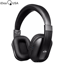 iDeaUSA S204 Foldable Over ear Wireless Bluetooth Headphone with Mic Apt-x Noise Isolation Earphone for TV / Phone / Tablet / PC