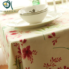Sinogem Pastoral Cotton Table Cloth for Dinning Flower/Stripe Country Life Tablecloth for Tea Tables Free Ship(China)