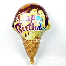 ice cream balloon happy birthday party foil decoration balloons toy