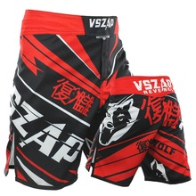 VSZAP Boxing Fight Shorts Cheap MMA Shorts For Men Sotf MMA Muay Thai Sport Shorts Trunks Grappling Sanda Kickboxing Pants Boxe(China)