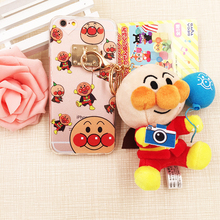 SE54 Cartoon Doll Phone Cases For iPhone 6 6s Plus Shockproof Anpanman Cute Back Covers TPU Clear Ultra Soft For iPhone 6 Plus