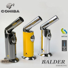 2016 new Cohiba adjustable single jet 3 colors flam torch windproof lighter cigar smoking factory direct(China)