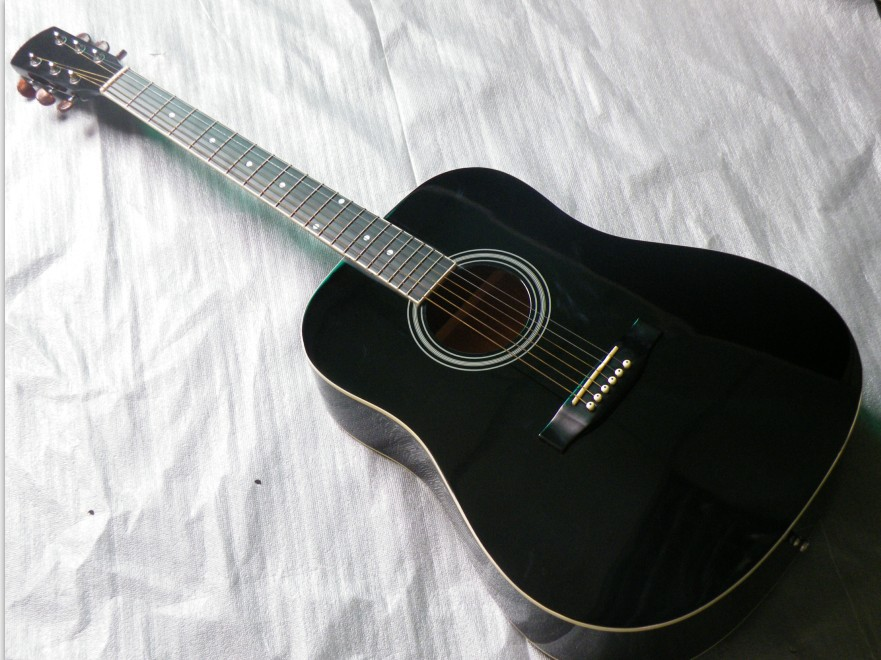 full size electric acoustic guitar black color 41inch<br><br>Aliexpress