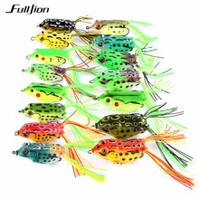 Fulljion Frog Fishing Lures Topwater Wobblers Minnow Crankbaits for Fly Fishing Artificial Insect Soft Lures Baits Hooks Pesca