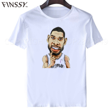 Men Short Sleeve t shirt Clothes Tops Sanantoniospurs Tim Duncan Tee Shirts tops tees men's t-shirt casual shirt(China)