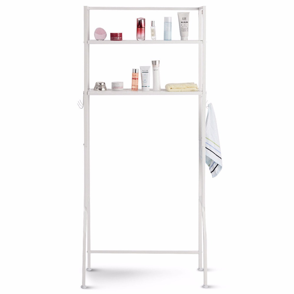 Giantex 2 Tire Space Saver Storage Rack Over Washing Machine Laundry Toilet Bathroom Modern furniture HW57751 6