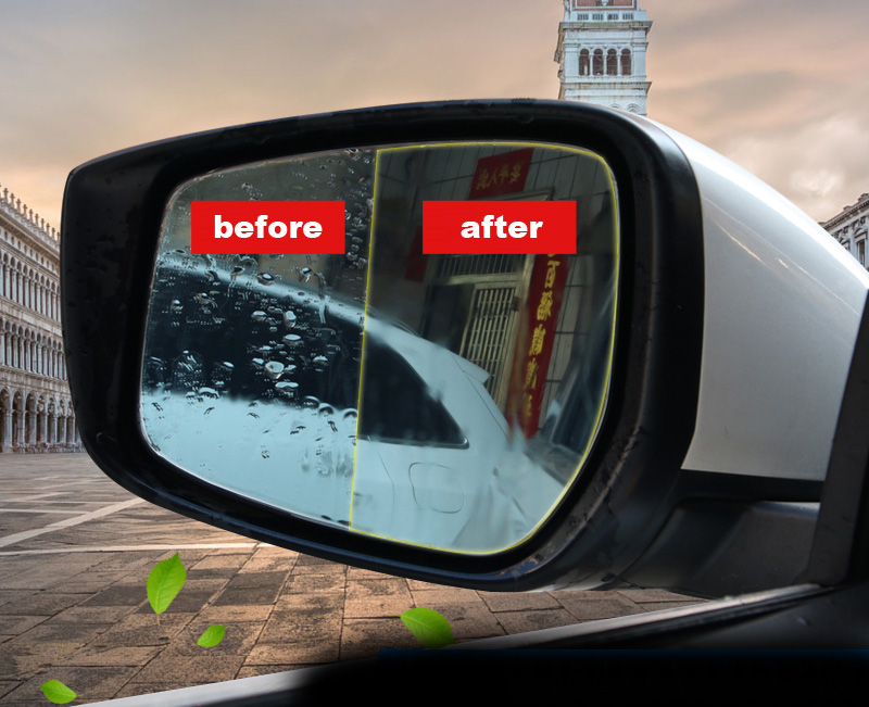 2pcs for NISSAN KICKS Rearview mirror waterproof Anti fog Dazzling Film Reduce reflection Prevent water beads<br>