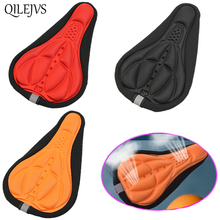 1pc Stylish Cycling Bike Bicycle MTB Silicone Gel Cushion Soft Pad Saddle Seat Cover 4colors QILEJVS