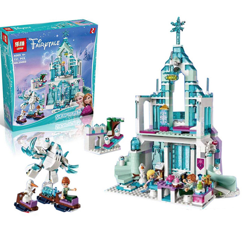 Lepin 25002 731pcs Princess Series The Elsa`s Magical Ice Castle Set 41148 Educational Building Blocks Bricks Toys for girls<br><br>Aliexpress