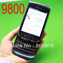 Original BlackBerry Torch 9800 Mobile Phone Smartphone Unlocked 3G Wifi Bluetooth GPS 4G Storage Cellphone & Black