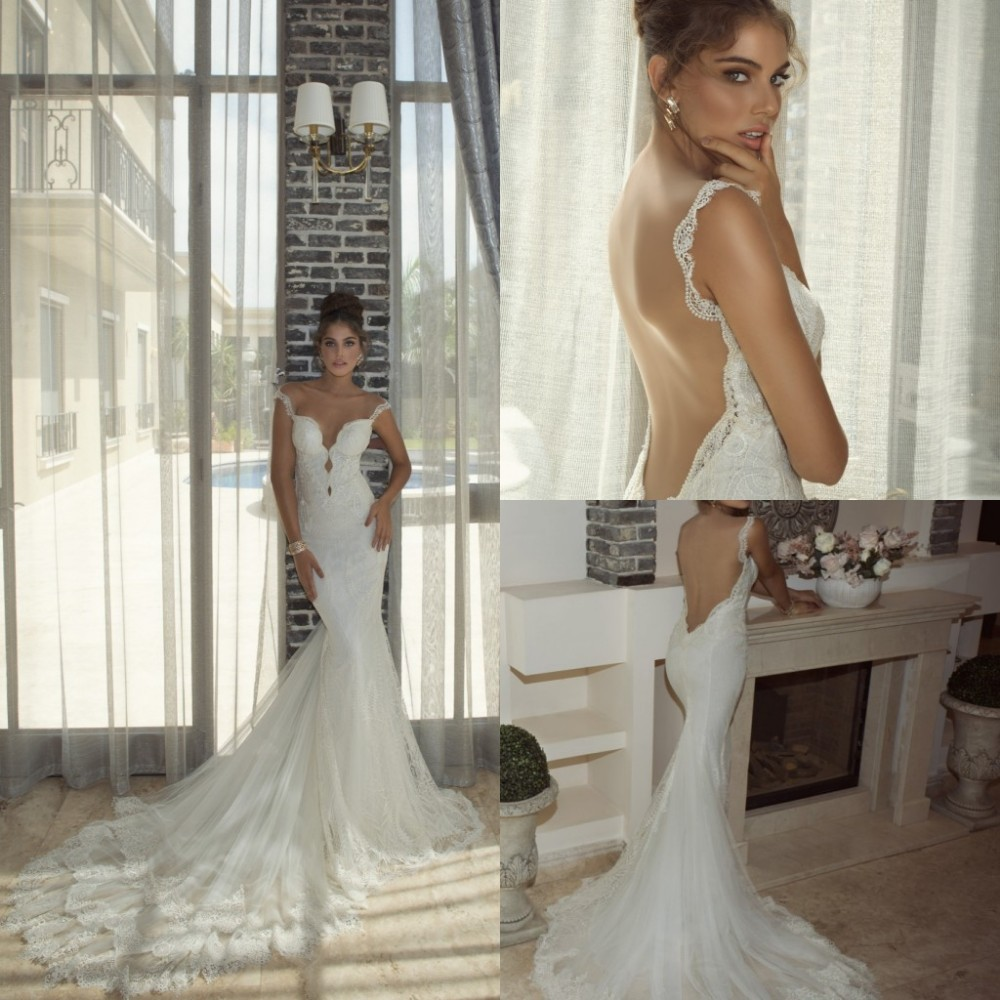 Low Back Romantic Mermaid Strapless Sweetheart Lace